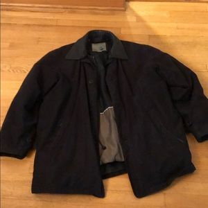 Suede 2 -in -1 jacket with 80% down filler.
